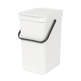 Pattumiera manuale bianco 12 L