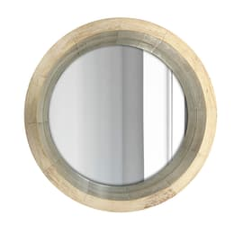 Specchio rotondoIce tondo beige 62x62 cm