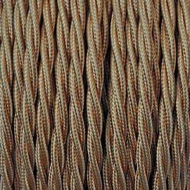Cavo tessile MERLOTTI 2 fili x 0,75 mm² oro 10 metri