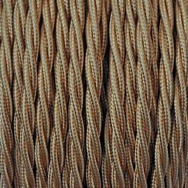 Cavo tessile MERLOTTI 3 fili x 0,75 mm² oro 10 metri