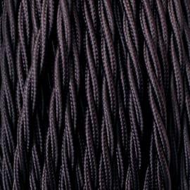 Cavo tessile MERLOTTI 3 fili x 0,75 mm² marrone 10 metri