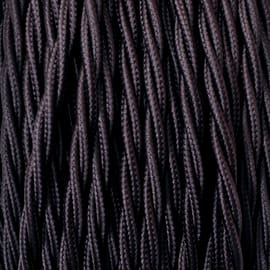 Cavo tessile MERLOTTI 2 fili x 0,75 mm² marrone 10 metri
