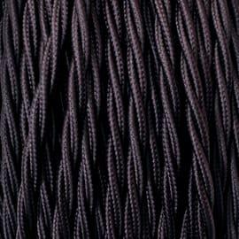 Cavo tessile MERLOTTI 3 fili x 0,75 mm² marrone 5 metri