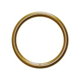 Anelli Lena in metallo ottone lucido , 8 pezzi