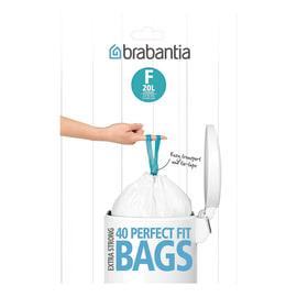Sacchi spazzatura PerfectFit Bags F 20 L bianco 40 pezzi