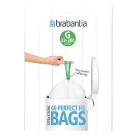 Sacchi spazzatura PerfectFit Bags G 30 L bianco 40 pezzi