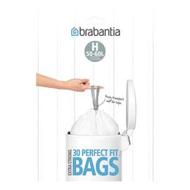 Sacchi spazzatura PerfectFit L 61 x H 80.5 cm 50 L bianco 30 pezzi