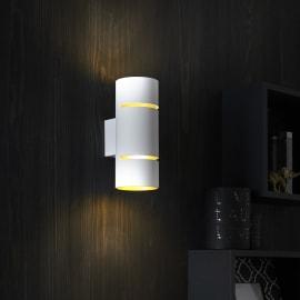 Applique Tubbo bianco/oro, in metallo, 20 cm, LED incassato 5W IP20 INSPIRE