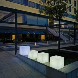 Lampada da esterno Cuby H43cm, in plastica, luce bianco, E27 IP65 NEWGARDEN