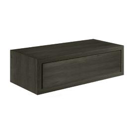 Mensola con cassetto Spaceo L 45 x P 23.7 cm, Sp 2.2 cm rovere scuro