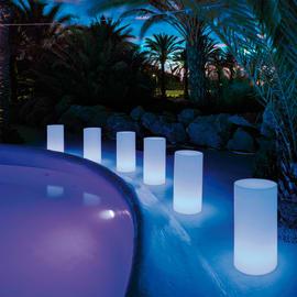 Lampada da esterno Tuby RGB H70cm, in plastica, luce colori cangianti, LED integrato IP65