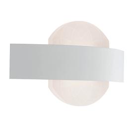 Applique Himalaya bianco, in acciaio inossidabile, 13.2x24 cm, LED integrato 10W