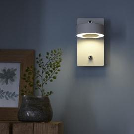 Applique CCT Egio bianco, in metallo, 8x14.5 cm, LED integrato 5W 400LM IP20 INSPIRE