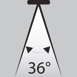 Lampadina LED GU10 a u bianco caldo 4W = 345LM (equiv 50W) 36° LEXMAN