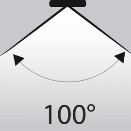 Lampadina LED GU10 riflettore bianco caldo 6W = 345LM (equiv 50W) 100° LEXMAN