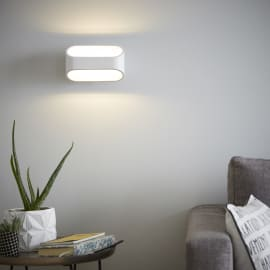 Applique LED integrato Koper bianco, in metallo, 16 cm, LED incassato 5W IP20 INSPIRE