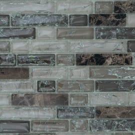 Mosaico Craquele H 30.5 x L 31.5 cm grigio, beige