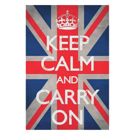 Poster Keep calm Union Jack 61x91.5 cm