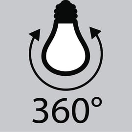 Lampadina Filamento LED E14 colpo di vento bianco caldo 2.5W = 250LM (equiv 25W) 360° LEXMAN