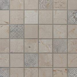 Mosaico Badges H 30 x L 30 cm beige