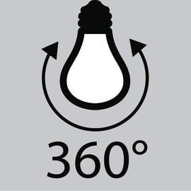 Lampadina Filamento LED E14 candela bianco freddo 2.5W = 250LM (equiv 25W) 360° LEXMAN
