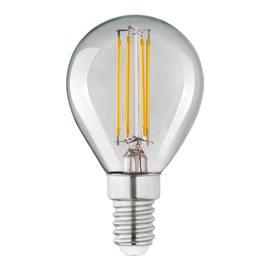 Lampadina Filamento LED E14 sferico bianco caldo 4W = 470LM (equiv 40W) 360° LEXMAN