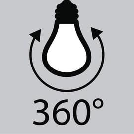 Lampadina Filamento LED E14 candela bianco naturale 4.5W = 470LM (equiv 40W) 360° LEXMAN