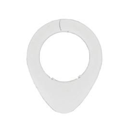 Anello in plastica bianco , 4 pezzi
