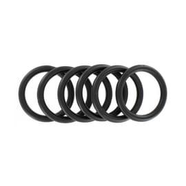 Anello Ø25mm in metallo nero plastificato , 6 pezzi