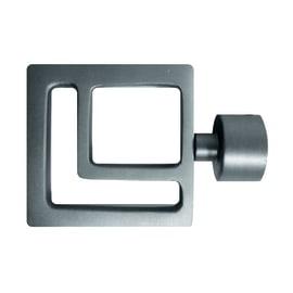 Finale per bastone Ø20mm Danau quadrato in metallo cromo INSPIRE
