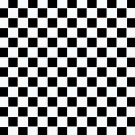 Mosaico Dama H 32.7 x L 32.7 cm bianco, nero