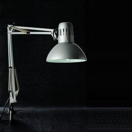 Lampada da scrivania Arquitecto nickel, in metallo, E27 MAX60W IP20 INSPIRE