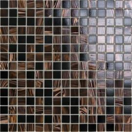 Mosaico Ambra notte H 32.7 x L 32.7 cm marrone
