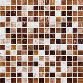 Mosaico Ambra chiara H 32.7 x L 32.7 cm multicolore