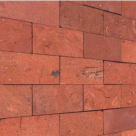 Mosaico Rettangolo cotto naturale H 27 x L 27 cm rosso