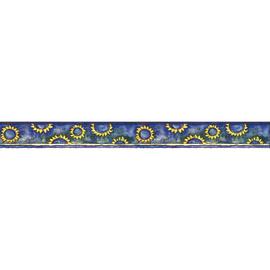 Bordo Girasoli blu 9.6 cm x 5 m