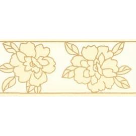 Bordo Fiore beige 8 cm x 5 m