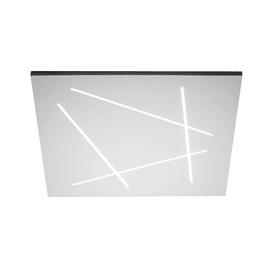 Applique Flat bianco, in alluminio, 60x60 cm, LED integrato 50W 2500LM IP20