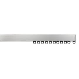 Binario per tenda arricciata, singolo, strappo, grigio / argento, in alluminio, 100 cm