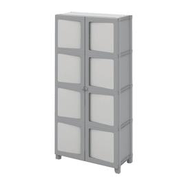Armadio xl in plastica Modulize L 89 x P 40 x H 180 cm grigio antracite e grigio chiaro