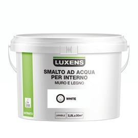 Smalto LUXENS base acqua bianco satinato 2.5 L
