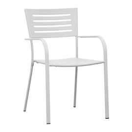Sedia CHF 16B in ferro colore bianco
