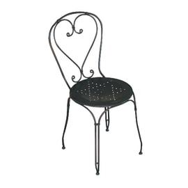 Sedia CHF 03 in metallo colore nero 1