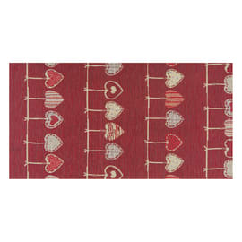 Tappeto Cucina antiscivolo Deco cuore rosso 180x53 cm