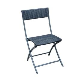 Sedia in acciaio colore antracite