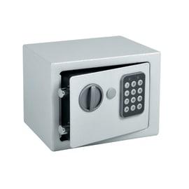 Cassaforte con codice elettronico a mobile fissaggio a pavimento<multisep/>da fissare a parete 20 x 15 x 15 cm