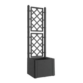 Fioriera con griglia Natural Deluxe STEFANPLAST in plastica H 142 cm, L 43 x P 43 cm