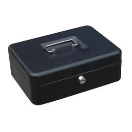 Cassetta porta denaro in acciaio neroL 25 x P 18 x H 9 cm