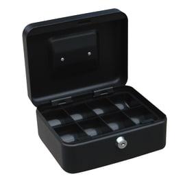 Cassetta porta denaro in acciaio neroL 20 x P 16 x H 9 cm