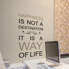 Sticker Happiness is a way 47.5x70 cm